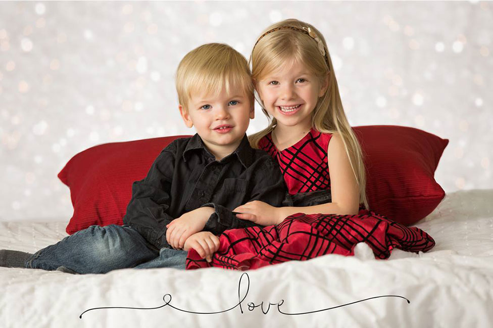 kids xmas portrait