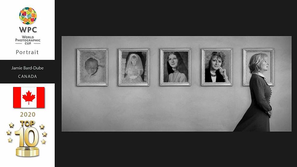 portrait woman frame