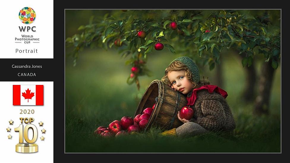 girl apple tree