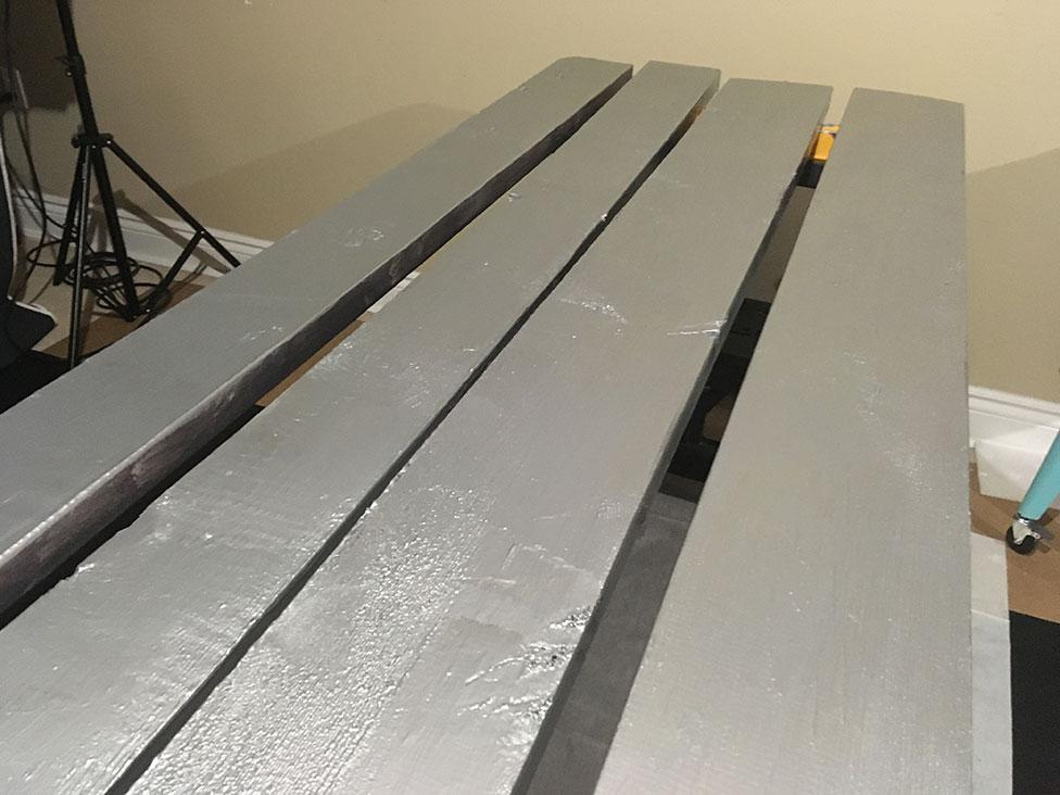 light grey metallic beam