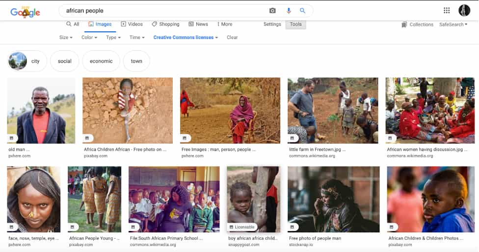 google search african people