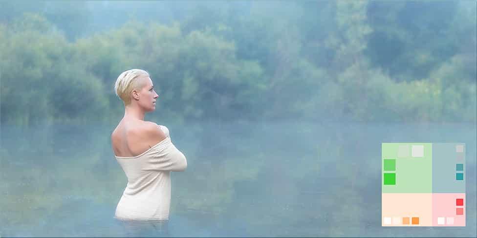 woman water portrait