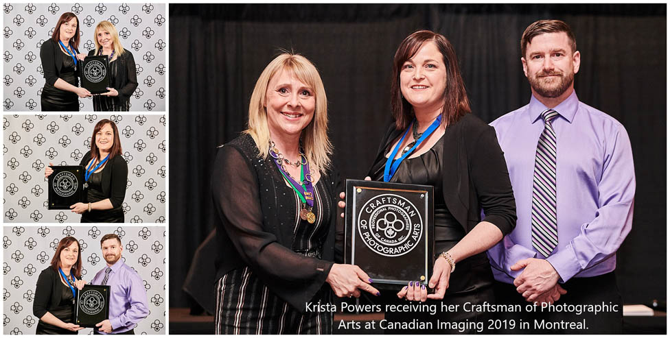 Krista Powers receiving CPA award