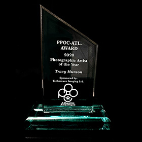PPOC Atlantic 2020 Photographic Artist of the Year trophy