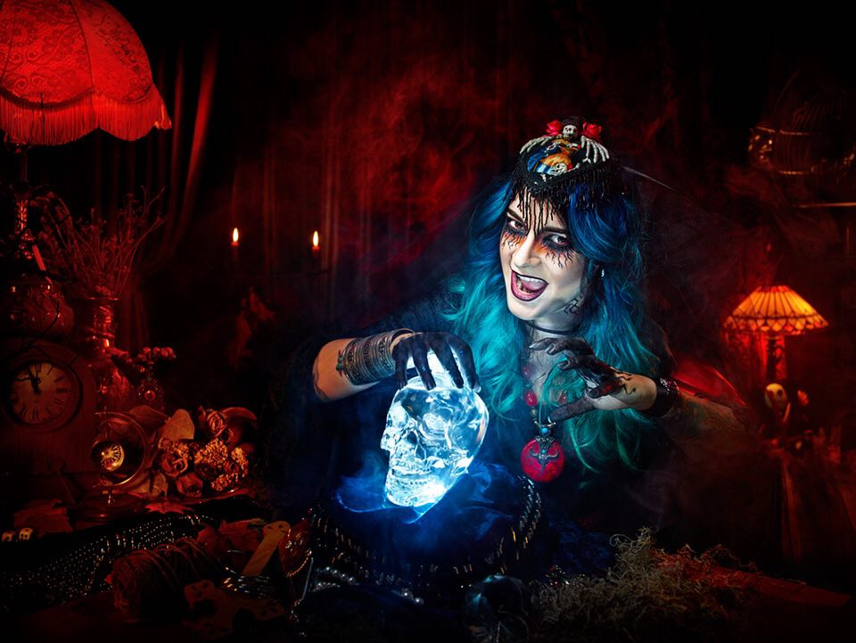 An image of a scary fortune teller by Brent McCombs