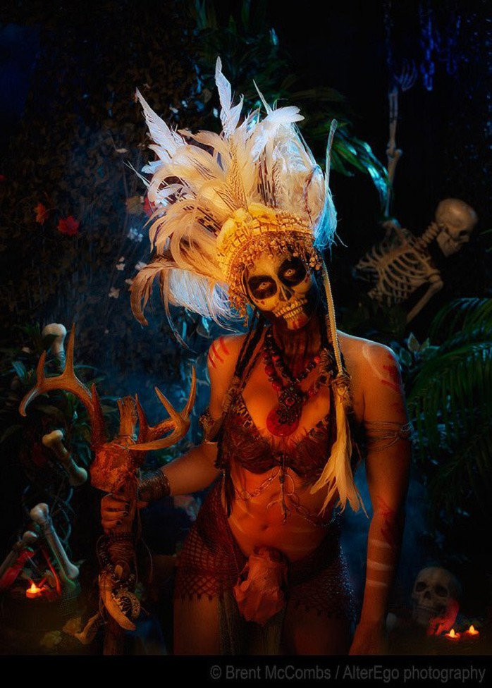 Voodoo skull priestess monster image by Brent McCombs