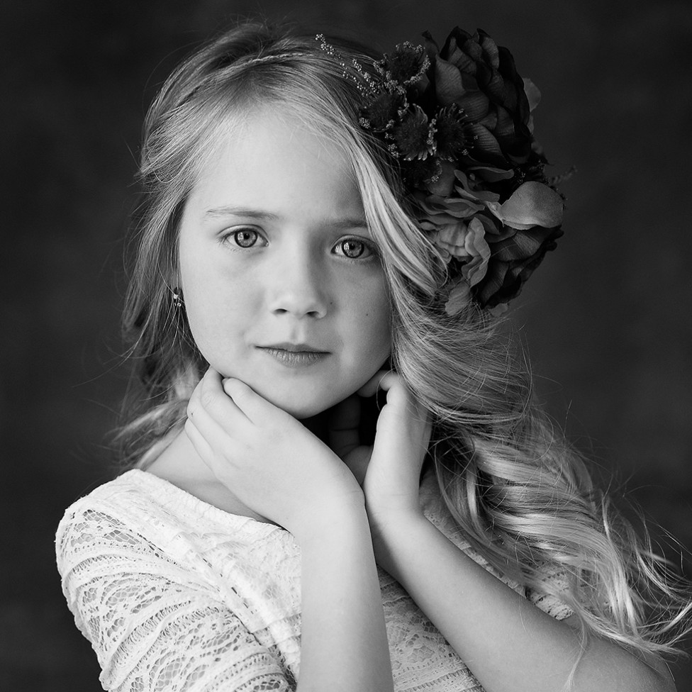 An emotional portrait of a young girl by Louise Vessey
