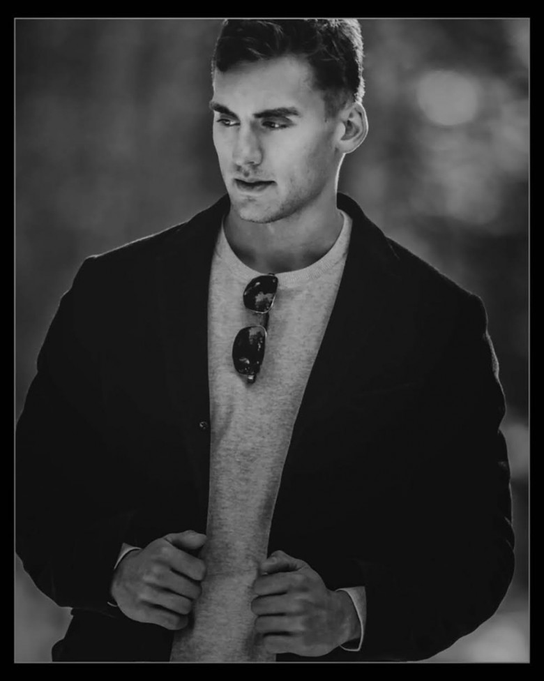 An outdoor photo of a young man by Moncton photographer Jason bowie