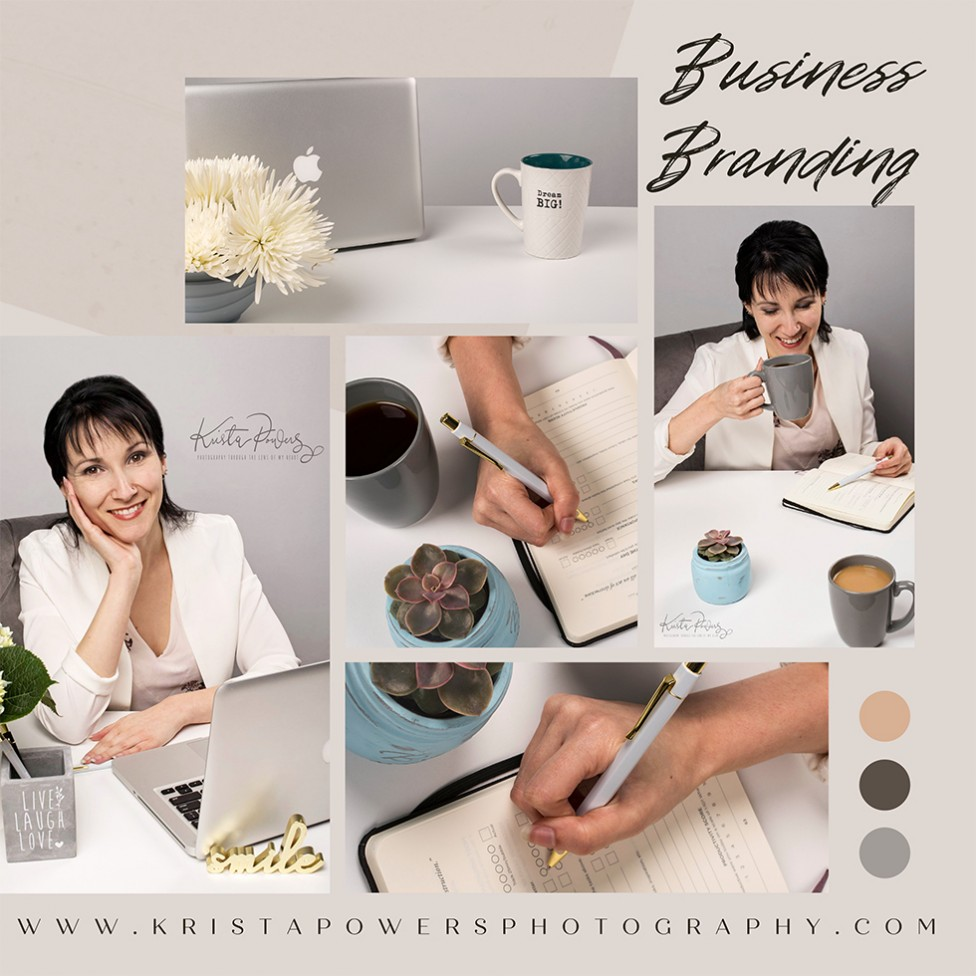 A collage of business branding images by Krista Powers.
