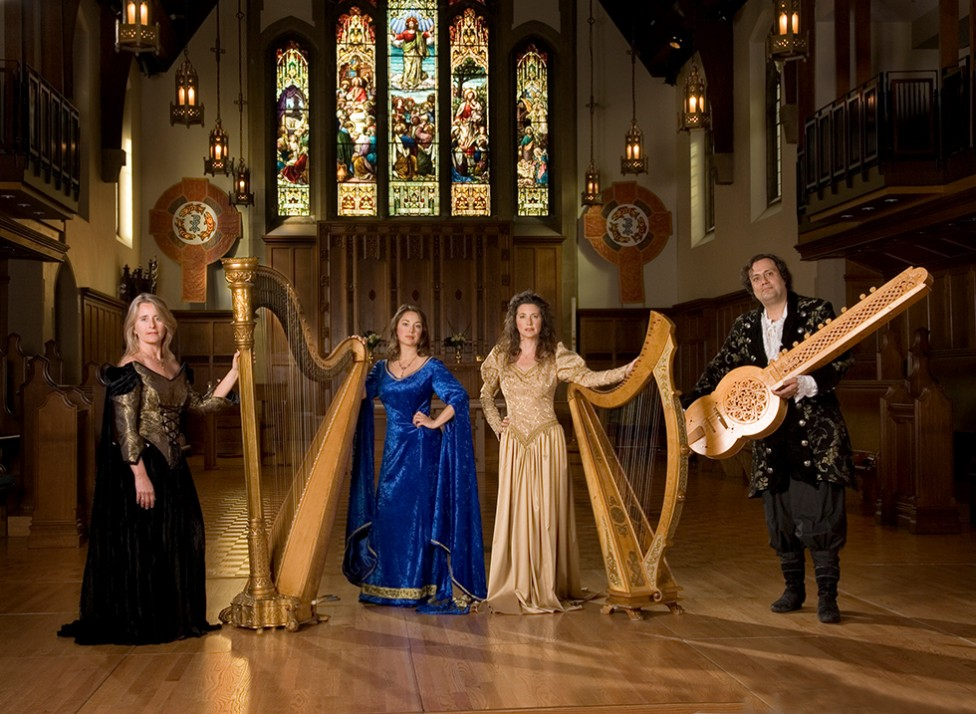 A photo of a medieval music group in Christ Church Cathedral, by David James