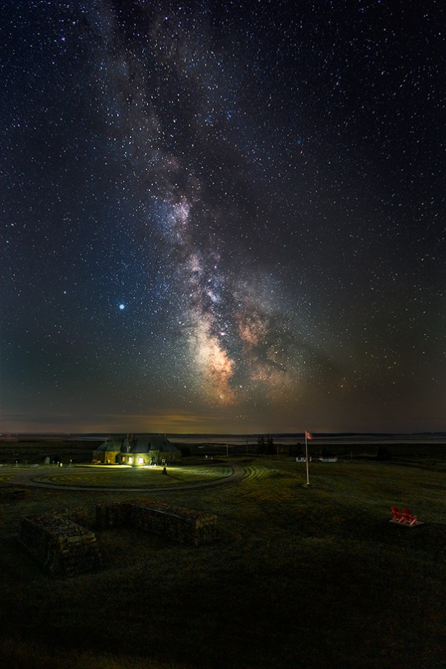 A night view of Fort Beausejour, by Don Lewis.